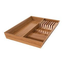 VARIERA utensil/knife tray, bamboo