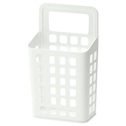"VARIERA trash can white 10 5/8 "" 6 1/4 "" 18 1/8 "" 3 gallon"