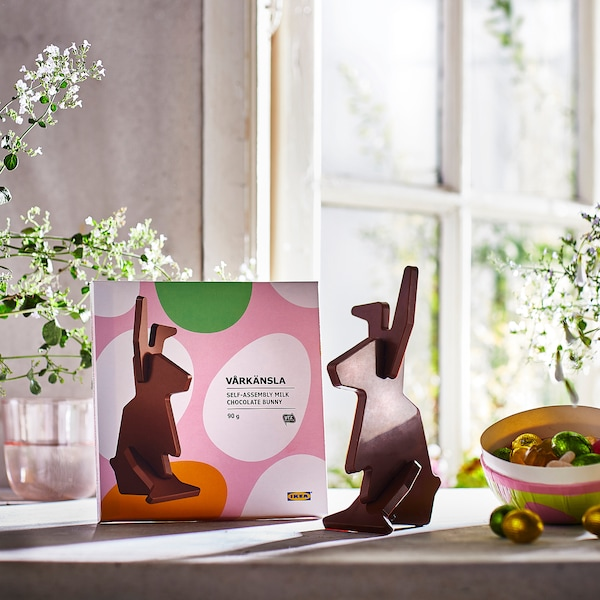 VÅRKÄNSLA Milk chocolate bunny, self-assembly/UTZ certified, 3 oz