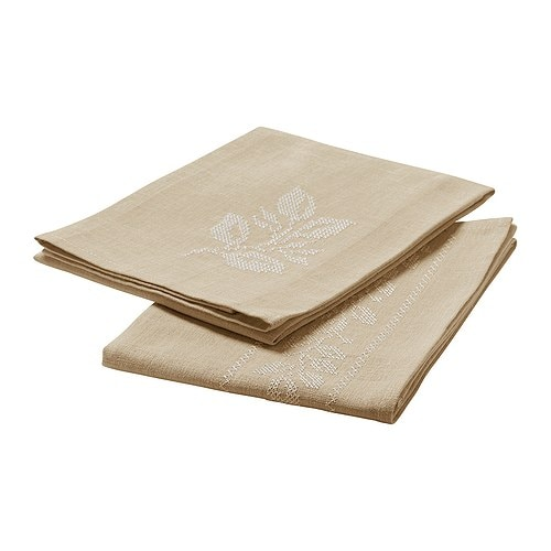 VÅRLIGT Dish towel IKEA Cotton/linen blend with high absorption capacity.