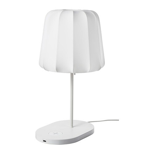 Varv Table Lamp W Charging Led Bulb Ikea