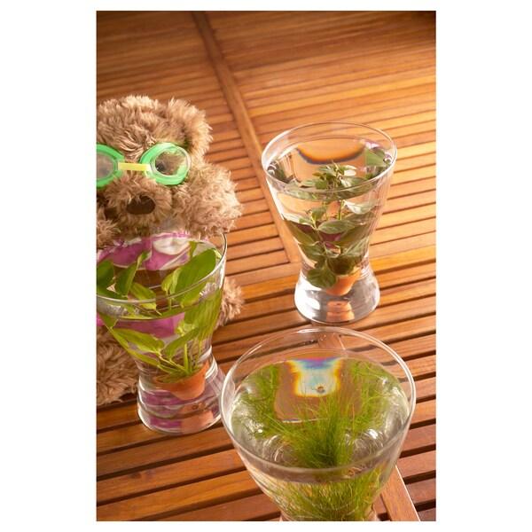 """VASEN Vase, clear glass, 7 ¾ """""""