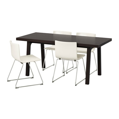 Vu00c4STANBY/Vu00c4STANu00c5 / BERNHARD Table and 4 chairs - IKEA