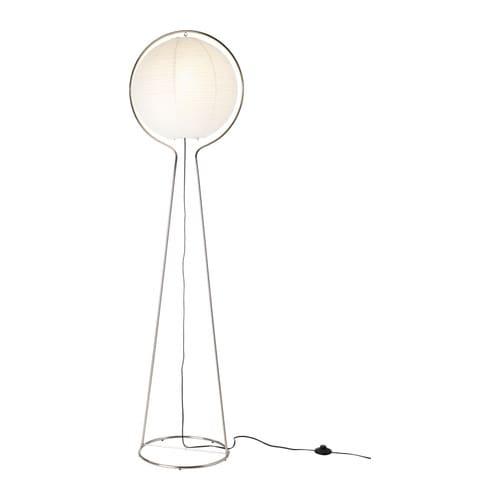 V 196 Te Floor Lamp Nickel Plated White Height 64 Quot Base