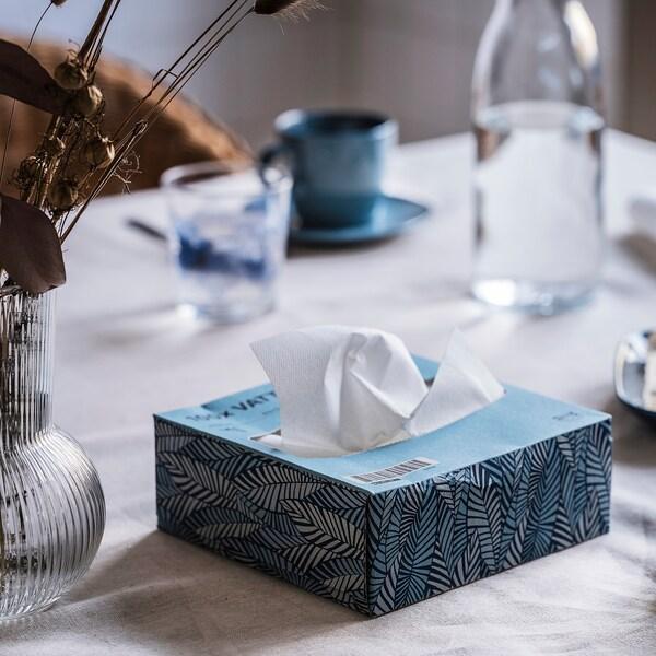 """VATTENDANS Paper napkin, blue, 6 ¼x12 ½ """""""