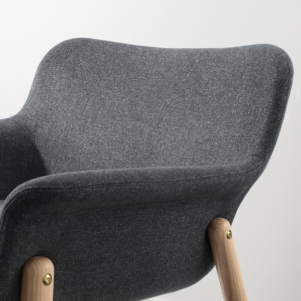 "VEDBO armchair Gunnared dark gray 29 1/2 "" 28 3/4 "" 25 5/8 "" 9 1/2 "" 7 7/8 "" 17 3/4 "" 18 7/8 "" 17 3/8 """