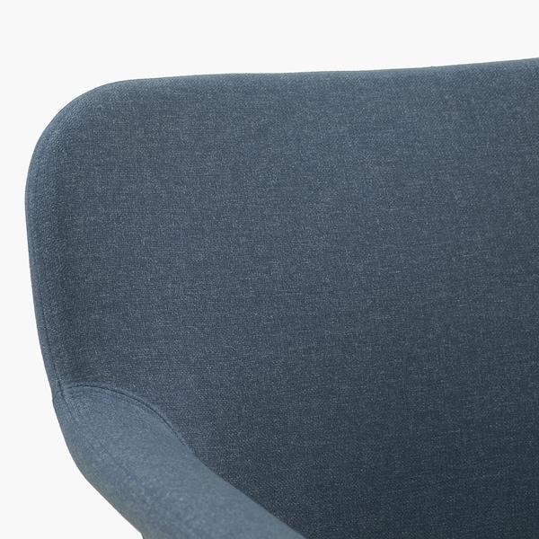 """VEDBO armchair Gunnared blue 29 1/2 """" 28 3/4 """" 25 5/8 """" 9 1/2 """" 7 7/8 """" 17 3/4 """" 18 7/8 """" 17 3/8 """""""