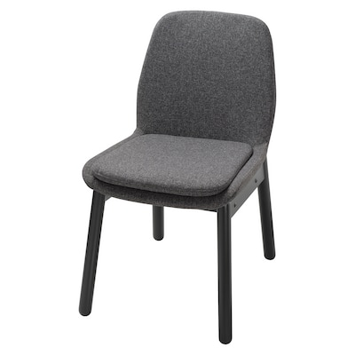 VEDBO Chair, black/Gunnared dark gray