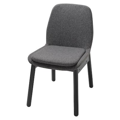 "VEDBO chair black/Gunnared dark gray 243 lb 19 1/4 "" 22 1/2 "" 32 5/8 "" 18 1/8 "" 15 3/4 "" 18 1/2 """