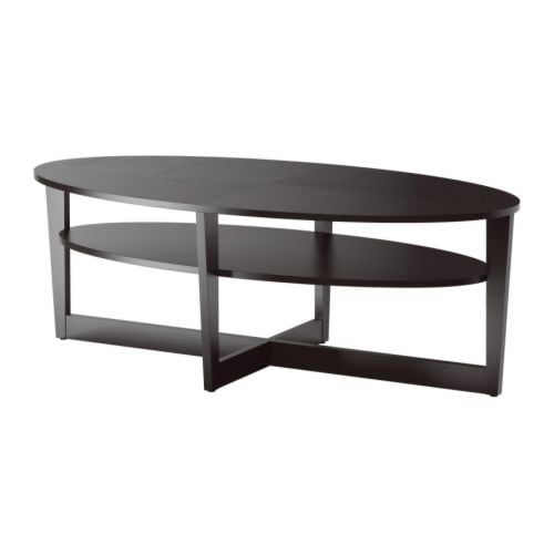 Vejmon coffee table black brown ikea Ikea coffee tables and end tables