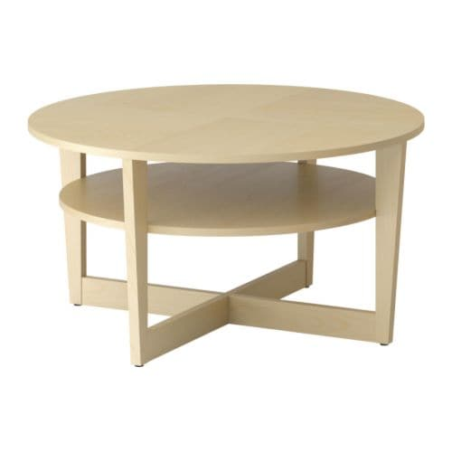 VEJMON Coffee table , birch veneer Diameter: 35 3/8
