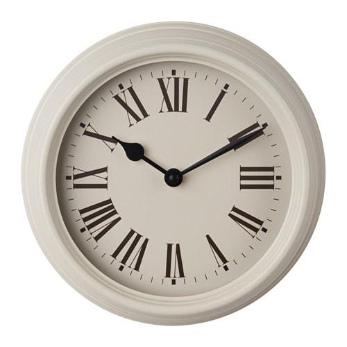 VERKTYG Wall clock, metal beige