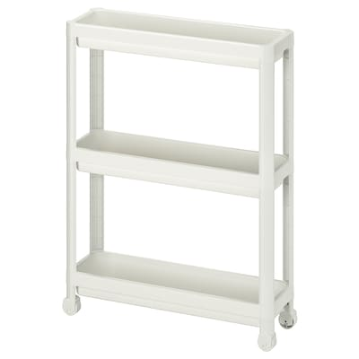 VESKEN Cart, white, 21 1/4x7 1/8x28 ""