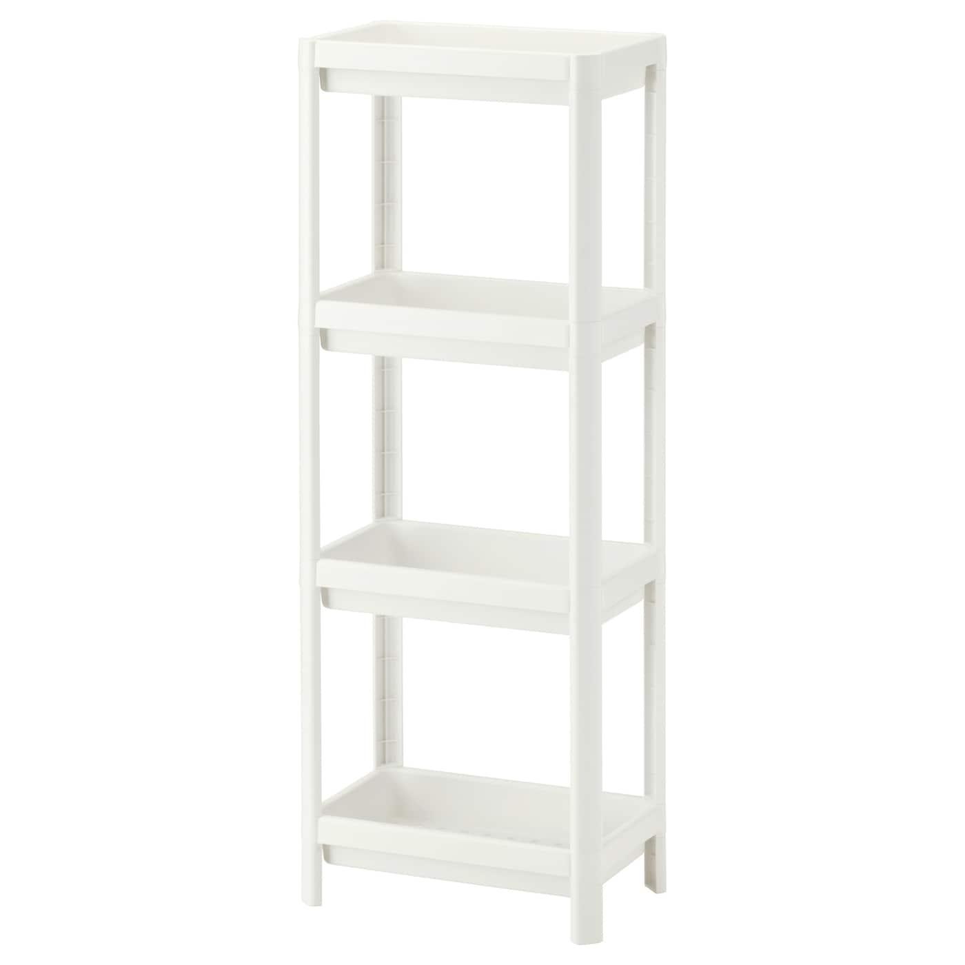 Vesken Shelf Unit White 14 1 8x9x39 3 8 Ikea