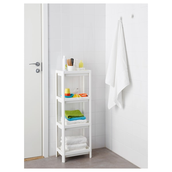 "VESKEN Shelf unit, white, 14 1/8x9x39 3/8 """