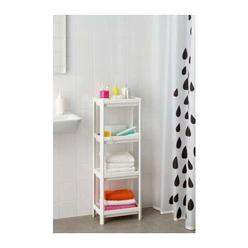 VESKEN Shelf unit IKEA Assemble the shelf unit quickly and easily without any tools by clicking the parts together.