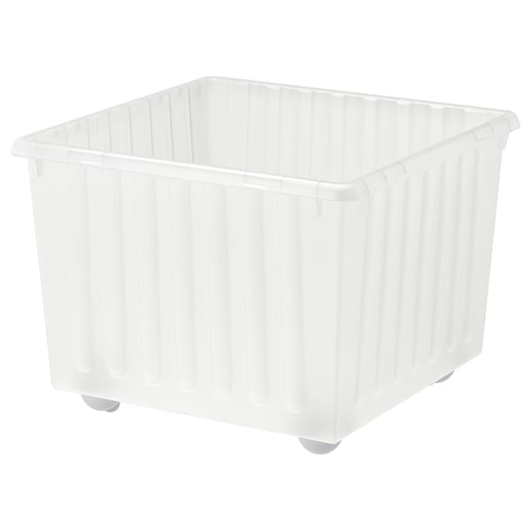 """VESSLA Storage crate with casters, white, 15 ¼x15 ¼ """""""