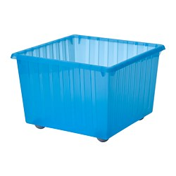 Charmant VESSLA   Storage Crate With Casters, Blue