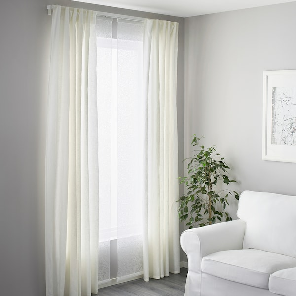 Vidga Triple Curtain Rail White Ikea