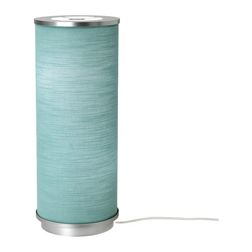 Ikea Vidja Floor Lamp Turquoise ~ VIDJA Table lamp IKEA Fabric shade gives a diffused and decorative