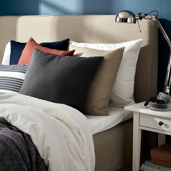 """VIGDIS Cushion cover, black-gray, 20x20 """""""
