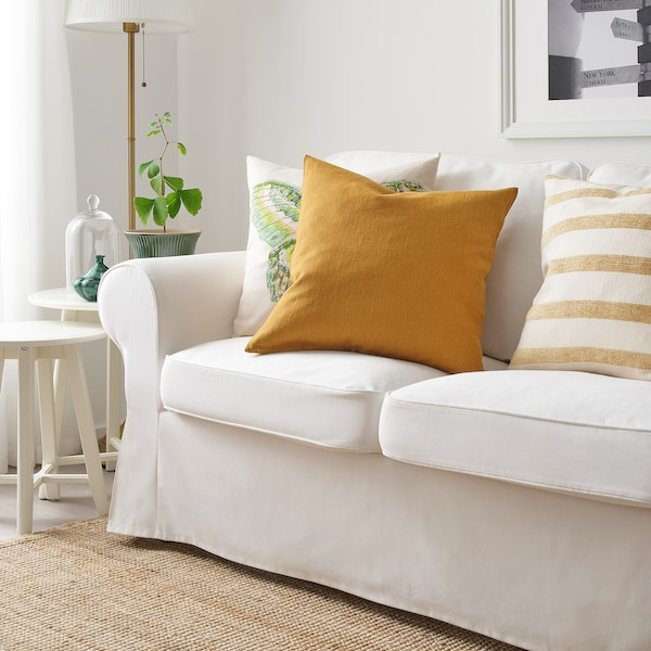 "VIGDIS Cushion cover, dark golden brown, 20x20 """