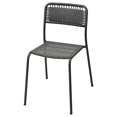 VIHOLMEN Chair, outdoor, dark gray