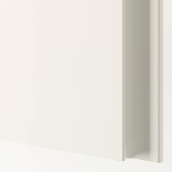 VIKANES Door with hinges, white, 19 1/2x90 3/8 ""