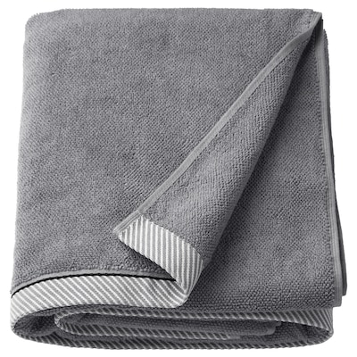 VIKFJÄRD Bath sheet, gray, 39x59 ""