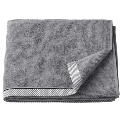 VIKFJÄRD Bath towel, gray, 28x55 ""