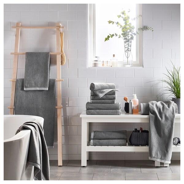 """VIKFJÄRD Hand towel, gray, 16x28 """""""