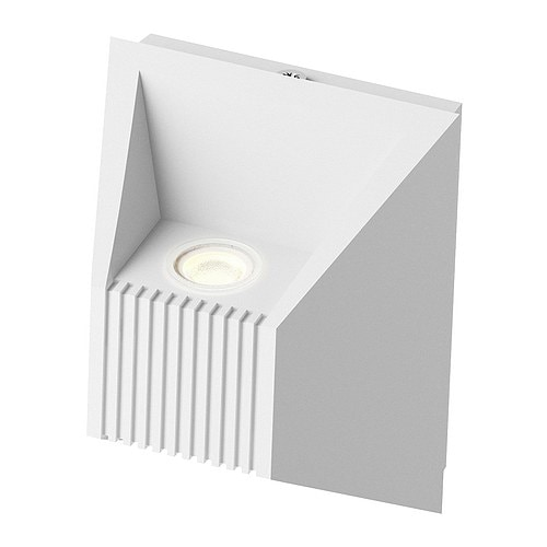 VIKT LED wall lamp IKEA Light directed both upwards and downwards.