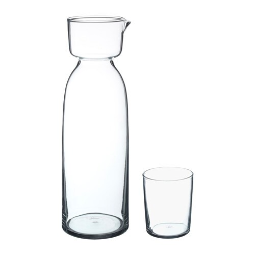viktigt carafe with glass ikea. Black Bedroom Furniture Sets. Home Design Ideas