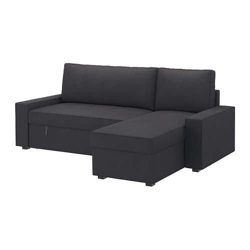 Ikea Sofa With Chaise Lounge ~ VILASUND Covered sofa bed with chaise IKEA The cover is easy to keep