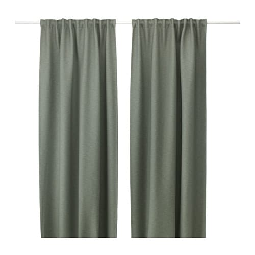 VILBORG Curtains, 1 pair IKEA The densely woven curtains darken the room and provide privacy by preventing people outside from seeing into the room.