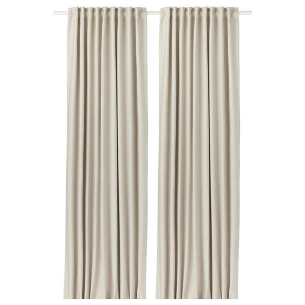 """VILBORG Room darkening curtains, 1 pair, beige, 57x98 """""""
