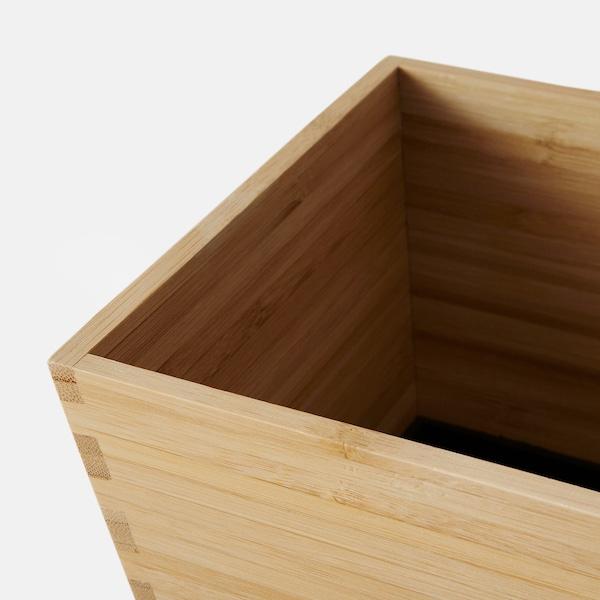 """VILDAPEL plant pot bamboo 6 ¼ """" 6 ¼ """" 5 """" 4 ¾ """""""