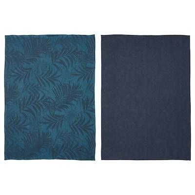 "VILDKAPRIFOL Dish towel, blue leaves, 20x28 """