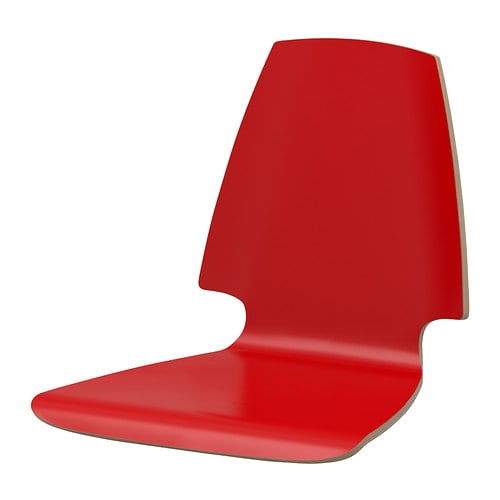 VILMAR Seat shell IKEA The chair's melamine surface makes it durable and easy to keep clean.