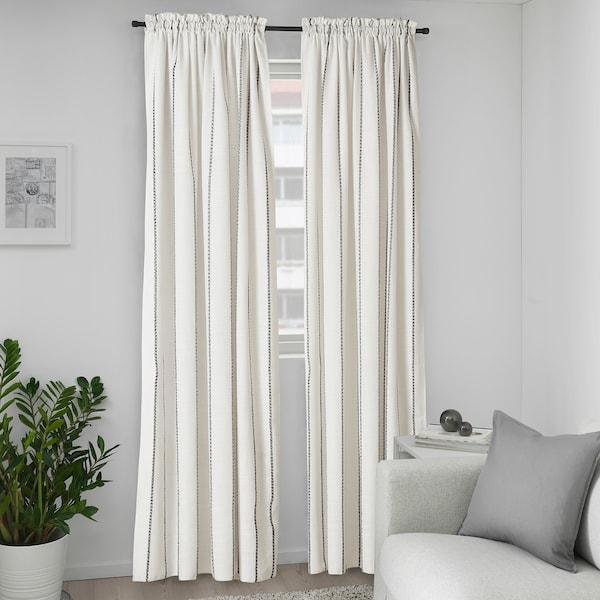 IKEA VILMIE LINJE Curtains, 1 pair