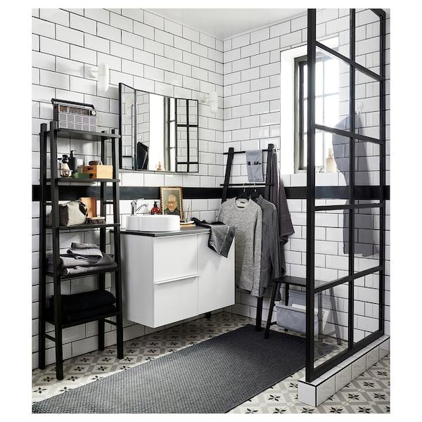 """VILTO Shelf unit, black, 18 1/8x59 """""""