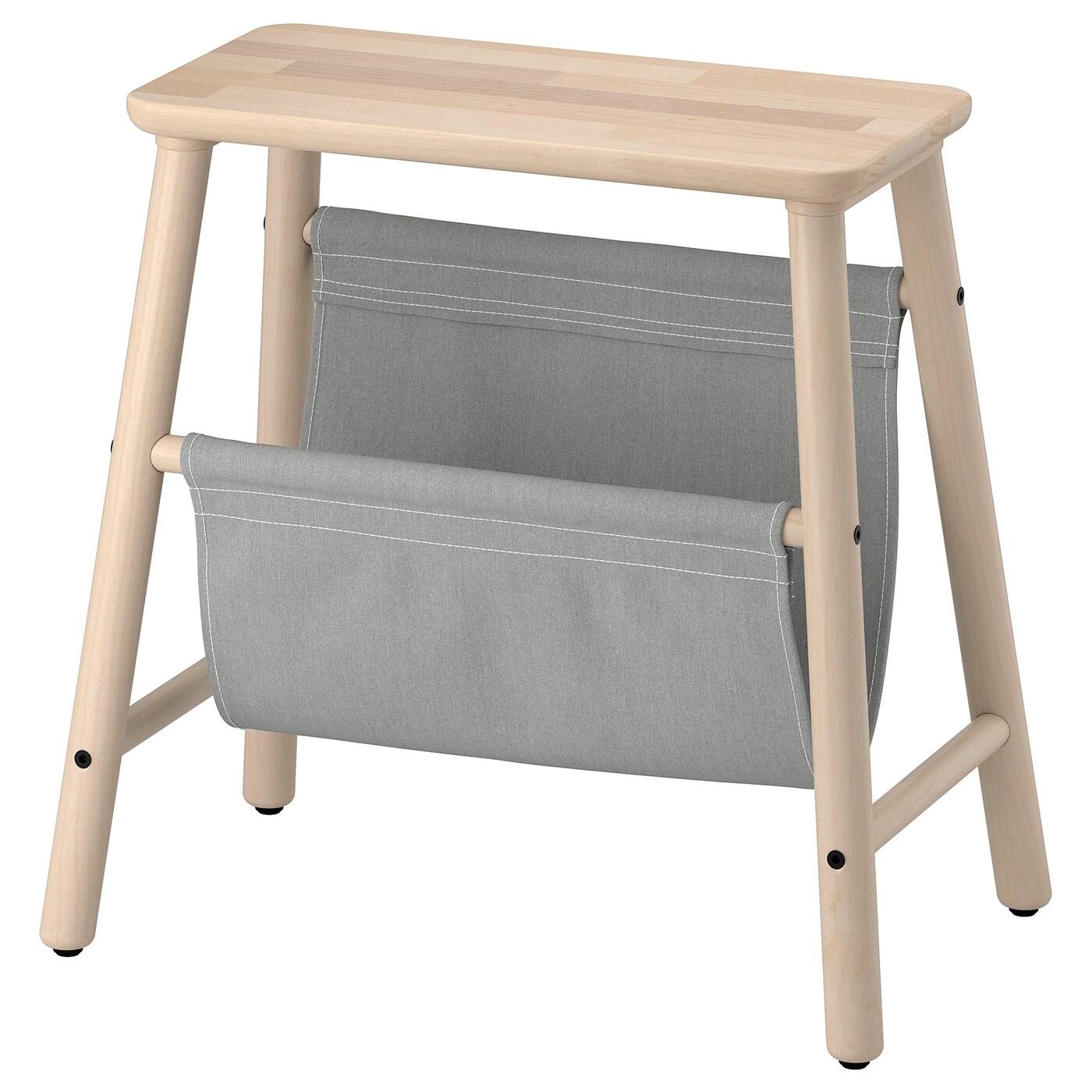 "VILTO Storage stool - birch 6 6/6 """