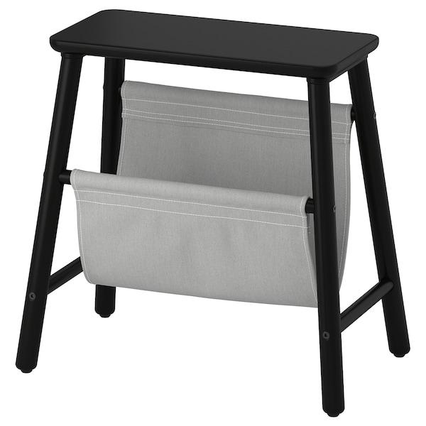 """VILTO storage stool black 18 7/8 """" 11 3/4 """" 17 3/4 """" 220 lb"""
