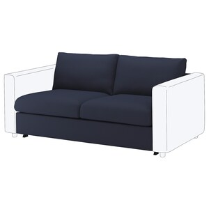 Fantastic Vimle Loveseat Sleeper Section Farsta Black Ikea Squirreltailoven Fun Painted Chair Ideas Images Squirreltailovenorg