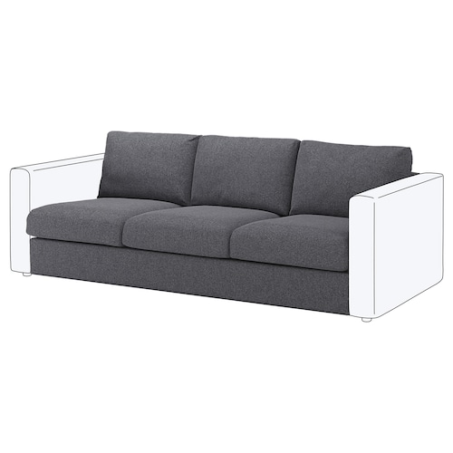 "VIMLE sofa section Gunnared medium gray 31 1/2 "" 26 "" 83 1/8 "" 38 5/8 "" 1 5/8 "" 83 1/8 "" 21 5/8 "" 17 3/4 """