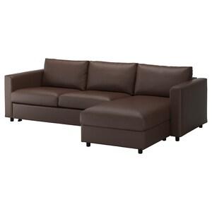 Vimle Sleeper Sofa With Chaise Orrsta Black Blue Ikea