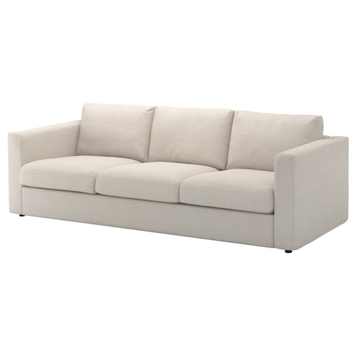 "VIMLE sofa Gunnared beige 32 5/8 "" 26 3/4 "" 94 7/8 "" 38 5/8 "" 2 3/8 "" 5 7/8 "" 26 3/4 "" 83 1/8 "" 21 5/8 "" 18 7/8 """