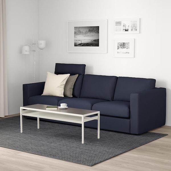 "VIMLE sofa with headrest/Orrsta black-blue 40 1/2 "" 32 5/8 "" 26 3/4 "" 94 7/8 "" 38 5/8 "" 2 3/8 "" 5 7/8 "" 26 3/4 "" 83 1/8 "" 21 5/8 "" 18 7/8 """