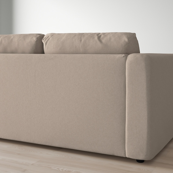 """VIMLE sectional, 4-seat with chaise/Tallmyra beige 32 5/8 """" 26 3/4 """" 64 5/8 """" 126 3/4 """" 38 5/8 """" 49 1/4 """" 2 3/8 """" 5 7/8 """" 26 3/4 """" 115 """" 21 5/8 """" 18 7/8 """""""
