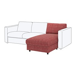 VIMLE chaise section, Dalstorp multicolor